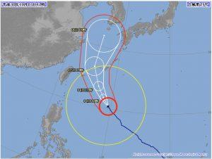 また台風。